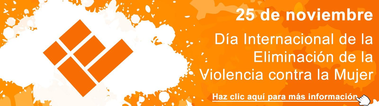 Banner conmemorativo del Día Internacional de la Eliminación de la Violencia Contra la Mujer 2018