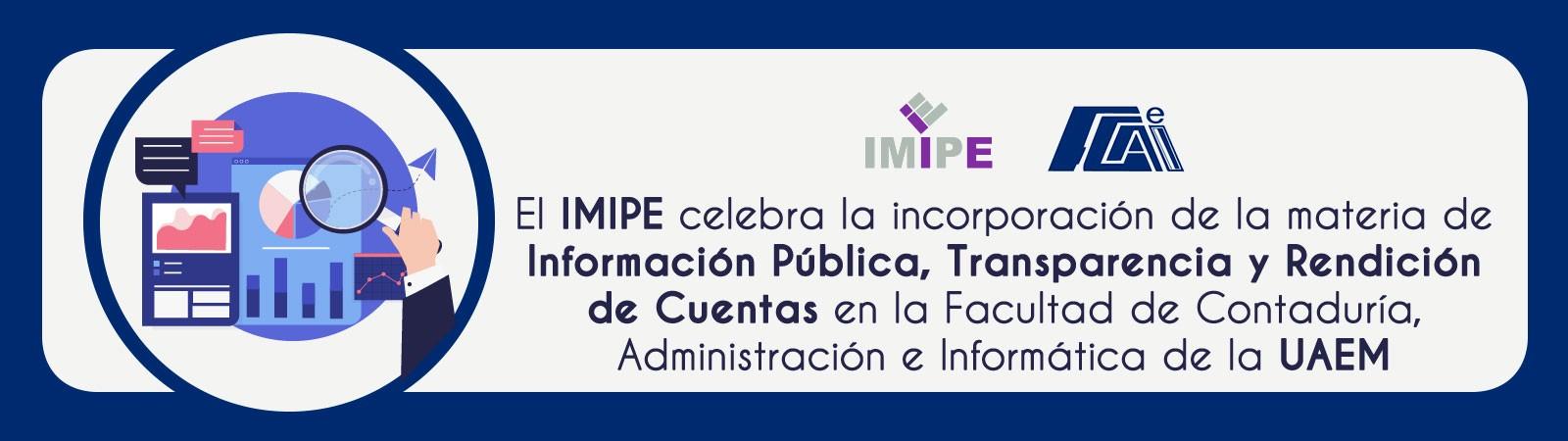 Banner de celebración por la incorporación de la materia de transparencia en FCAeI