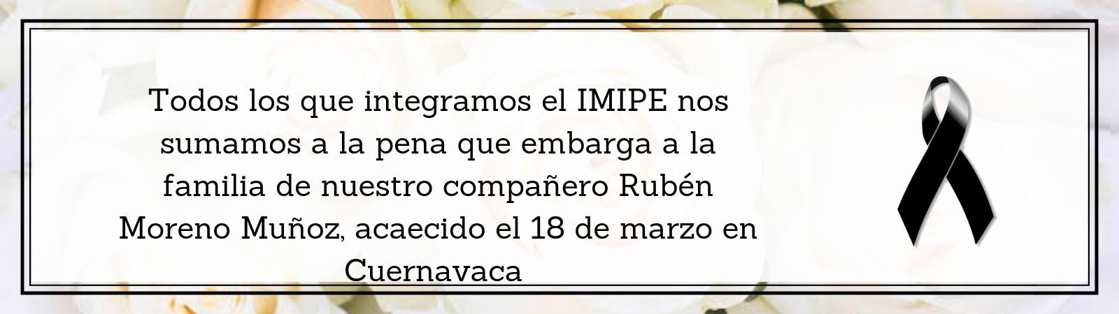 Banner con motivo del fallecimiento del C.P. Ruben Moreno