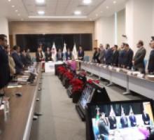 Foto comisionados en inicio de Sesión del Consejo del SNT