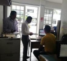 La Coordinación  de Evaluación en visita a Sujeto Obligados