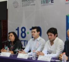"""Comisionada Presidenta del IMIPE en rueda de prensa """"Hackathon Morelos"""" 2019."""